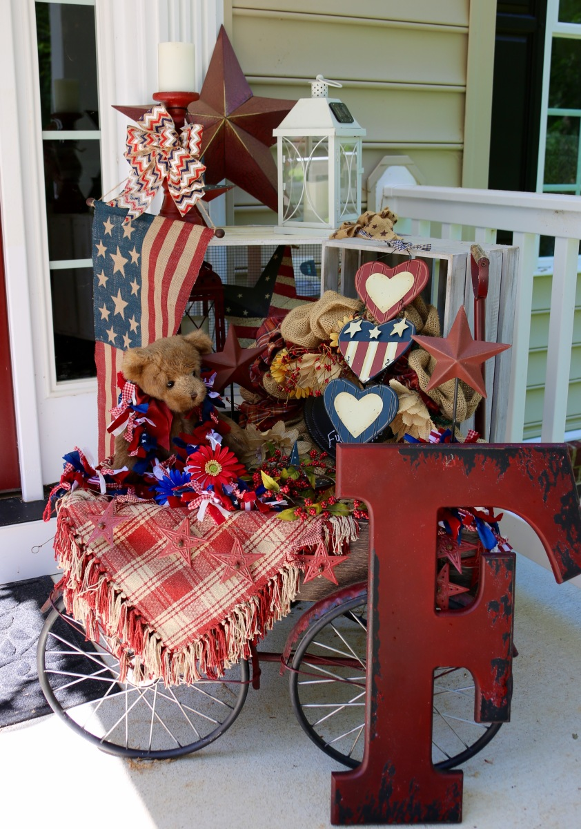 My Little Red Wagon Decor ⚜️ Country Craft Corner ⚜️