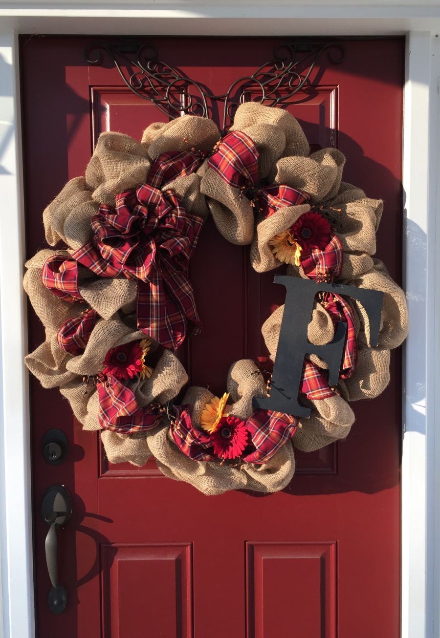 Front Door Burlap Wreaths Country Craft Corner