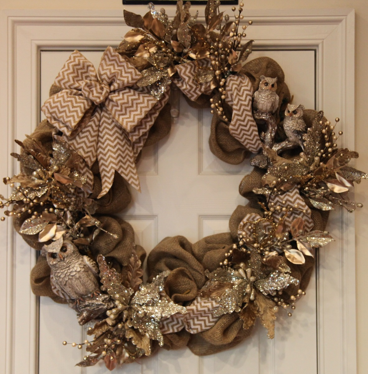 Burlap Woodlands Wreath For Winter ⚜️ Country Craft
