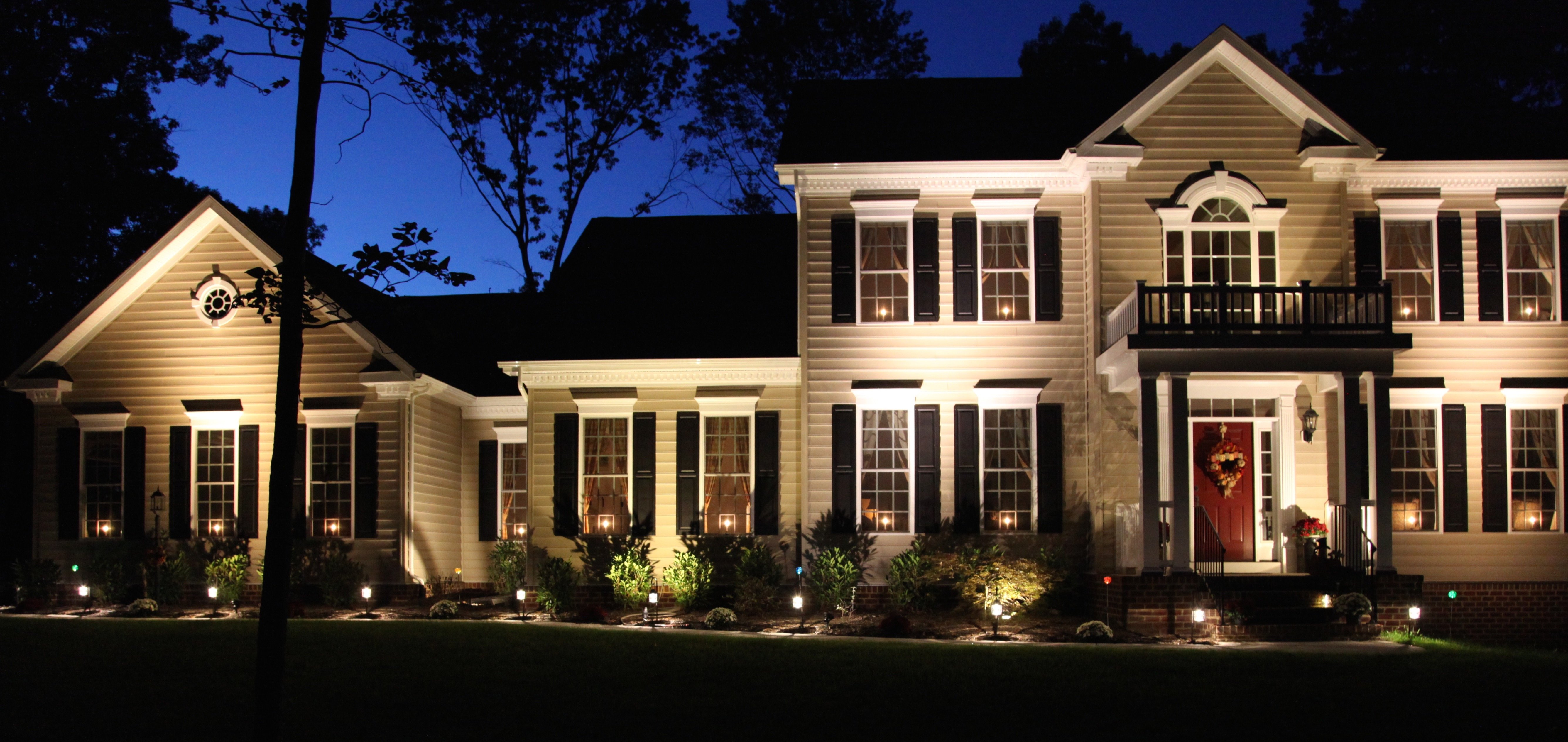 flower bed lighting. The Lighting Is Pretty Throughout Entire Year, But It Especially Right After A Snowfall: Flower Bed N