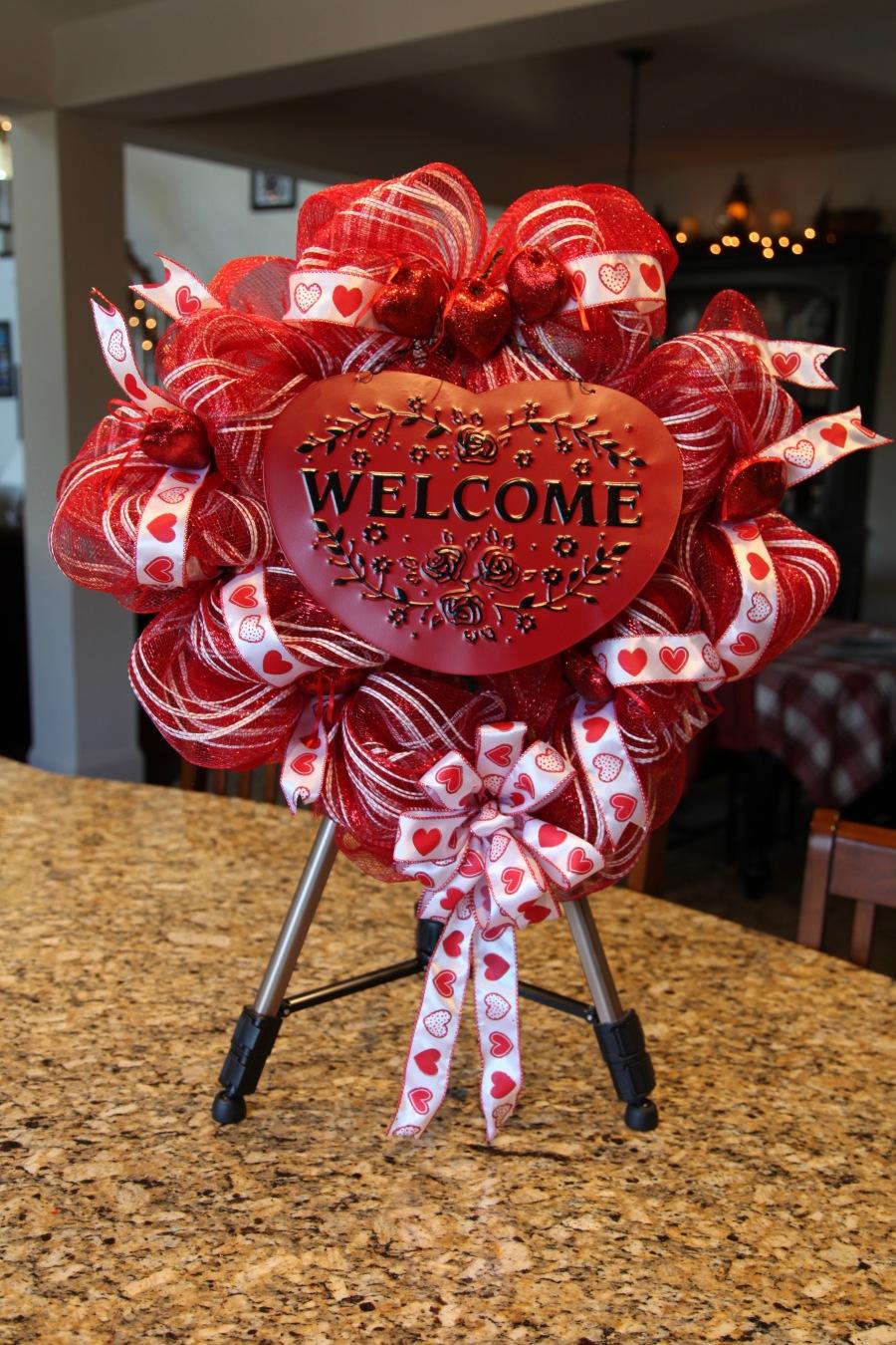 Valentine S Day Deco Mesh Wreath Country Craft Corner